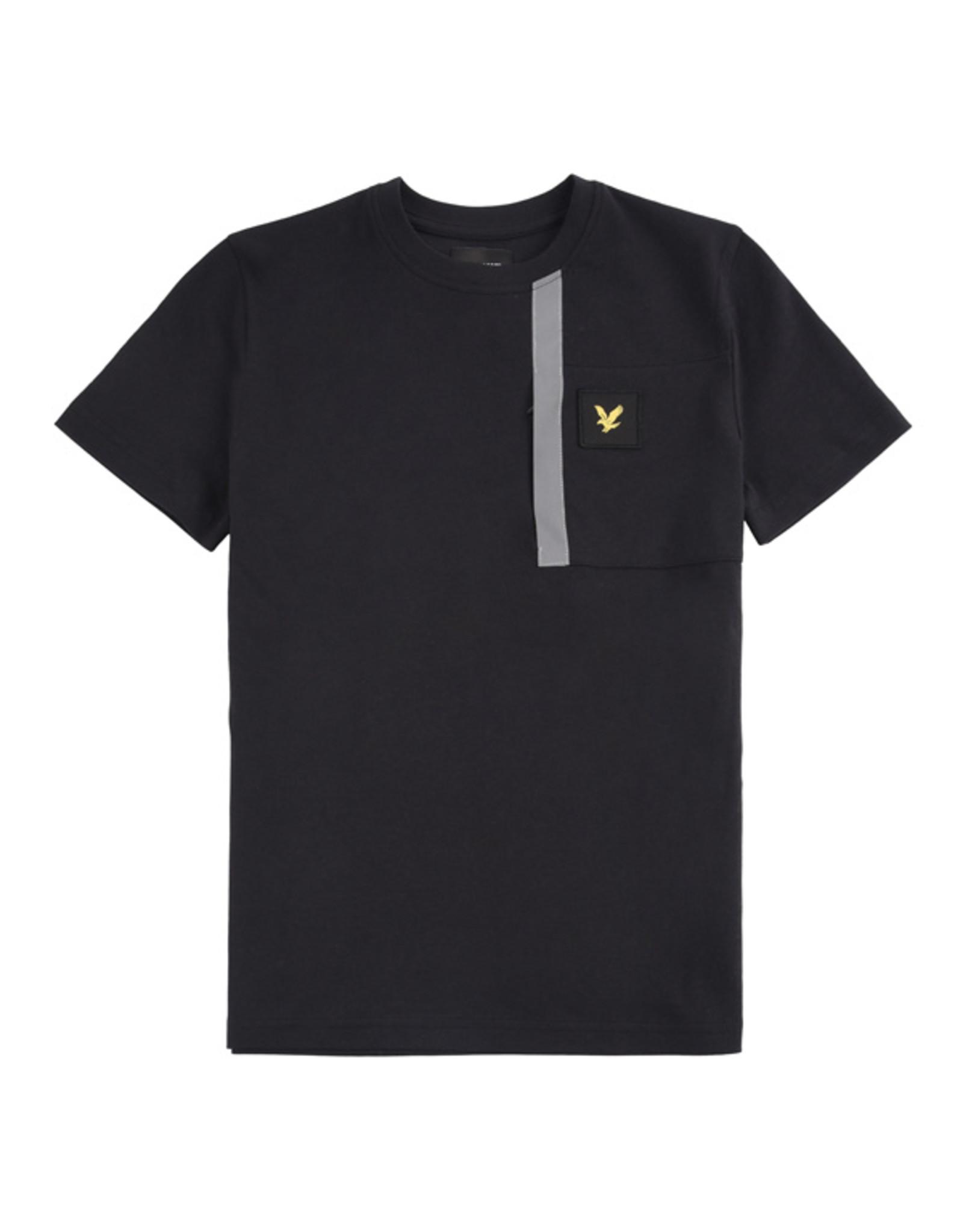 Lyle & Scott Boys Reflective Detail T Shirt Black