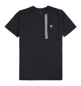 Lyle & Scott Boys Reflective Detail T Shirt Black