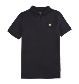 Lyle & Scott Zip Detail Polo Shirt Black