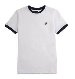 Lyle & Scott Boys Ringer T Shirt Bright White