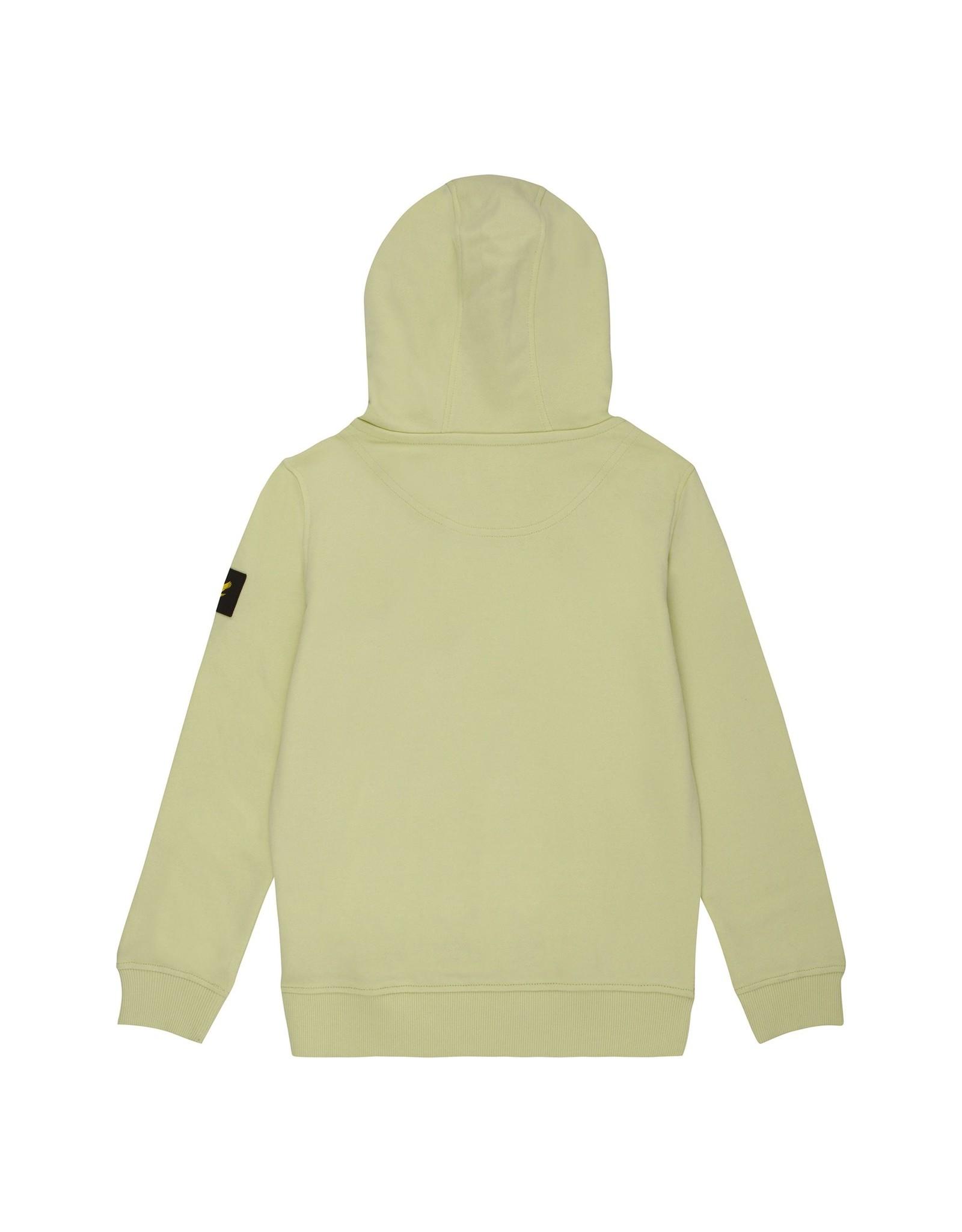Lyle & Scott Boys Angle Zip LB Hoodie Lime Cream