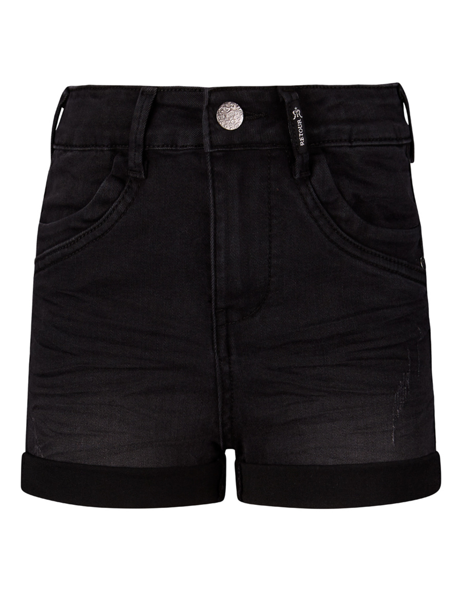 Retour Jeans Short Iliyah Vintage Black Denim