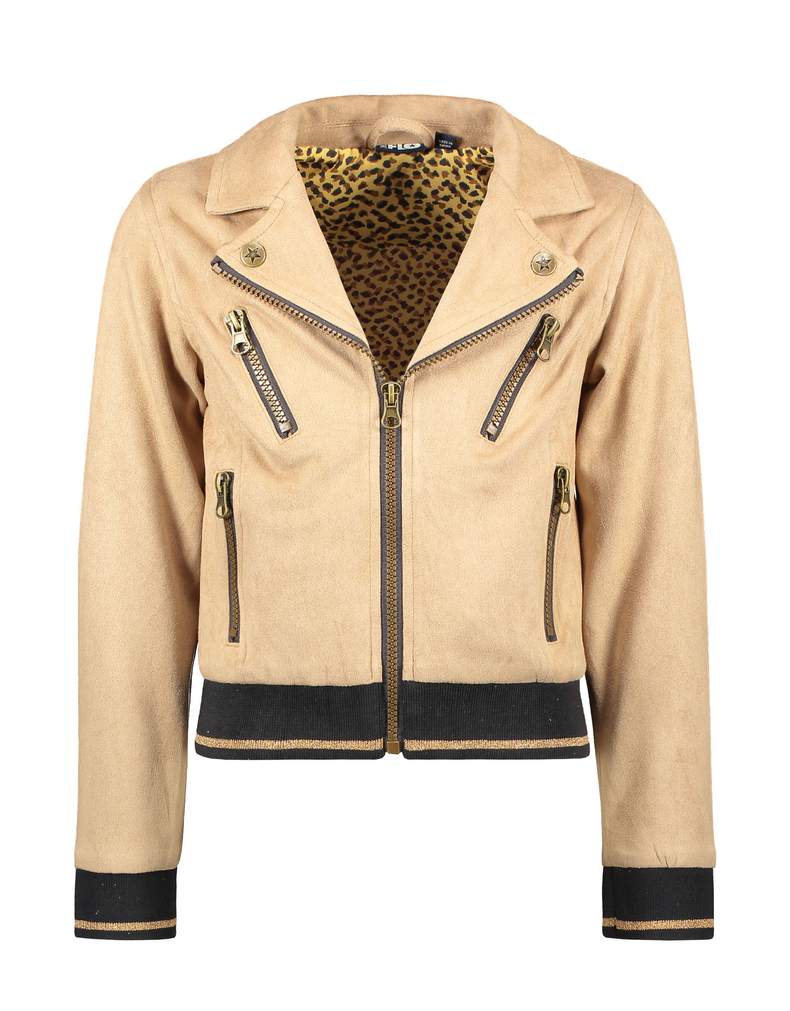 Like Flo girls suede biker jacket Mud