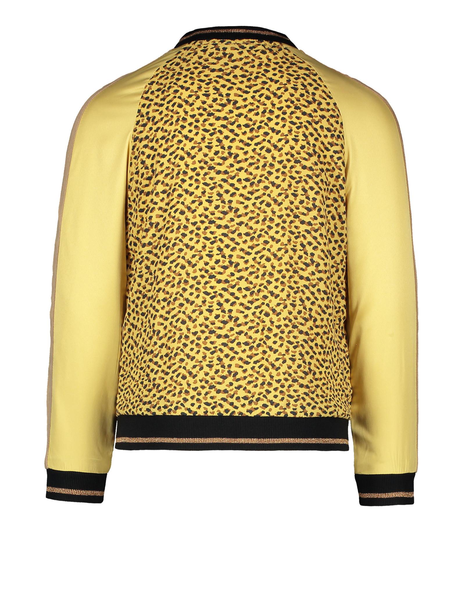 Like Flo girls woven satin baseball jacket Panther