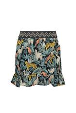 Like Flo girls AO leaf woven ruffle skirt Leaf