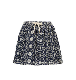 Like Flo girls broidery anglais skirt Navy