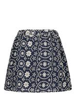 Like Flo girls broidery anglais skirt Navy