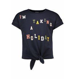Like Flo girls lt sweat knotted ss sweater Navy