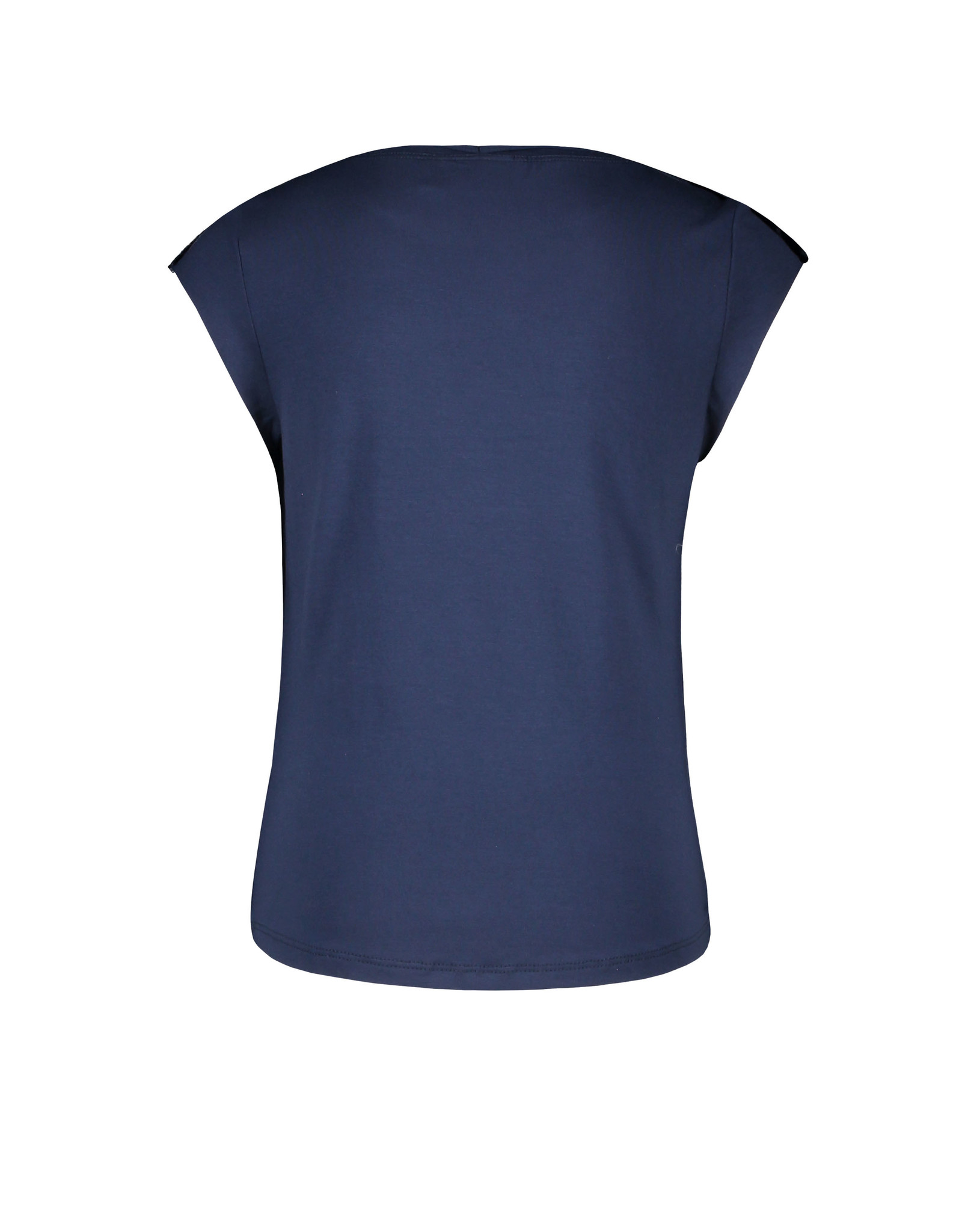 Like Flo girls viscose jersey top with fancy studs Navy