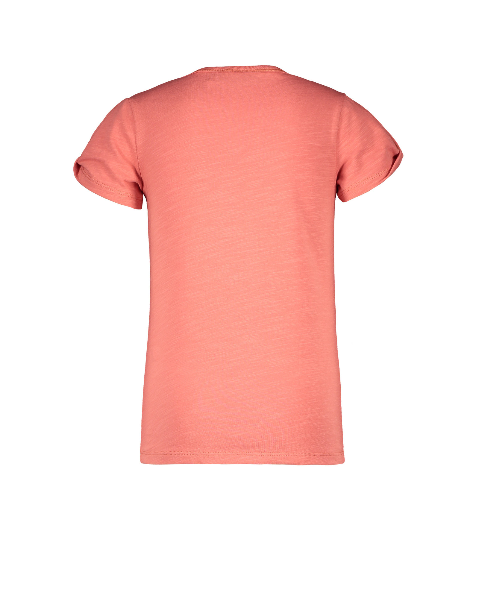 Like Flo girls tee open shoulder roll divers Blush