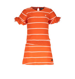 Flo baby baby girls fancy yd ruffle dress Orange