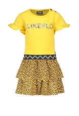 Flo baby baby girls jersey dress with panter skirt Honey