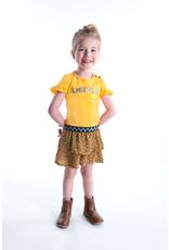 Flo baby baby girls jersey dress with panter skirt Honey