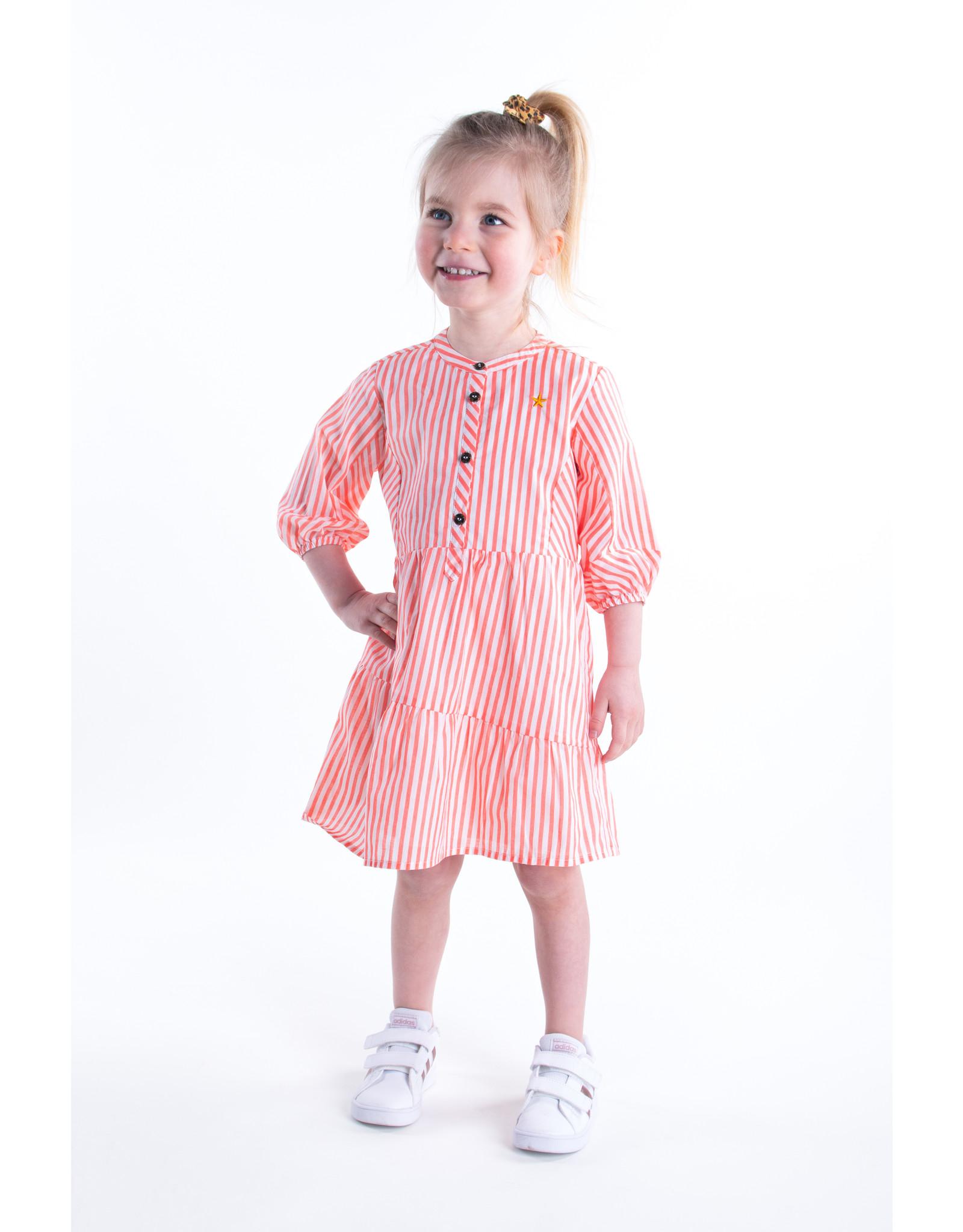 Flo baby baby girls woven tuniek Neon stripe
