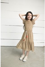Like Flo girls AO woven smock maxi dress Panther
