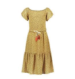 Like Flo girls AO woven smock maxi dress Panther