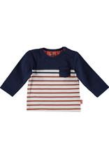 Bess Shirt l. sl. Striped with Pocket Blue