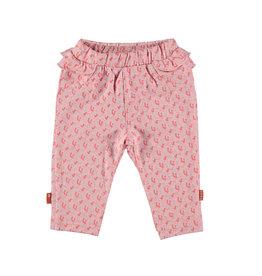 Bess Pants AOP Flower Ruffles Pink
