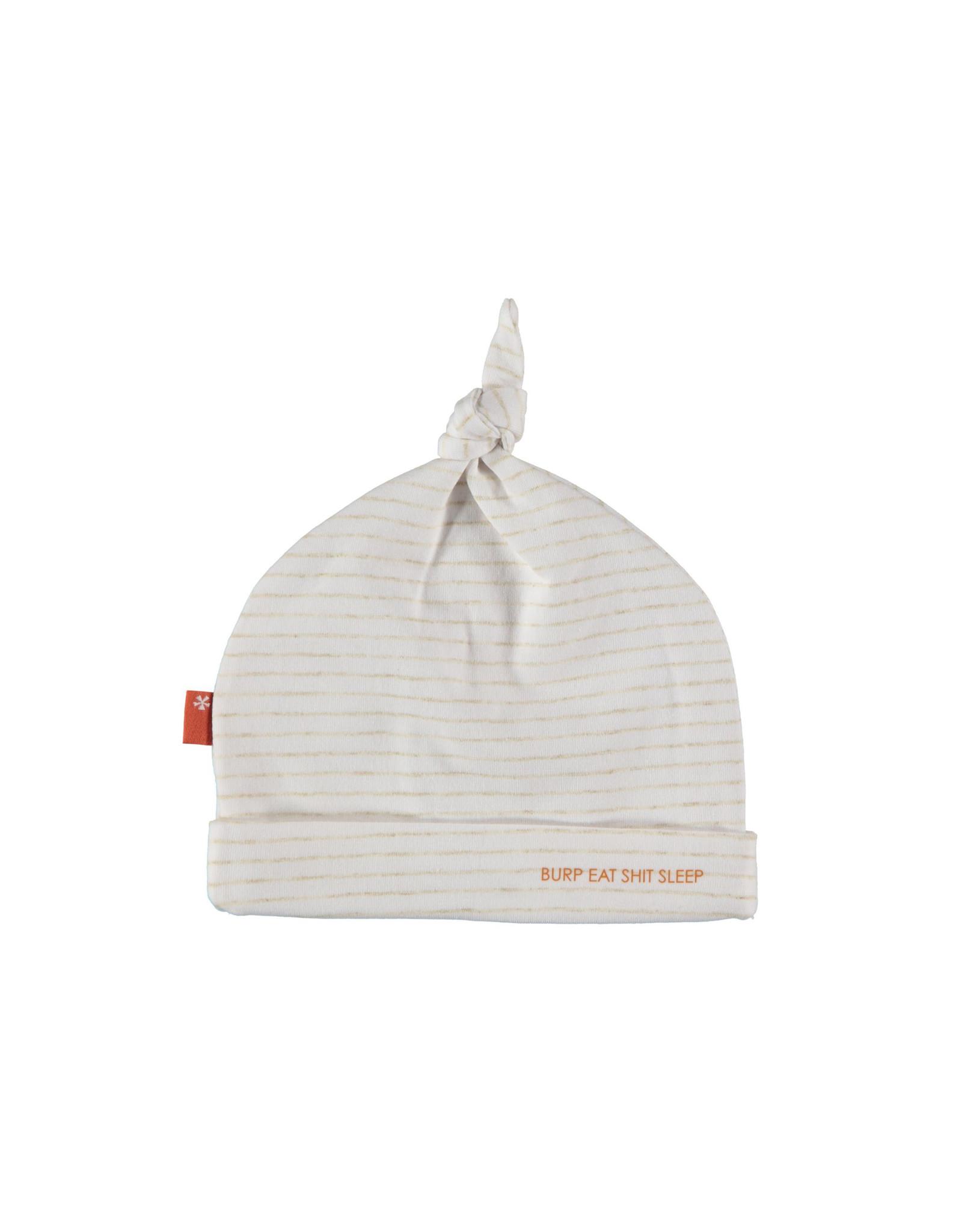 Bess Hat Lines White