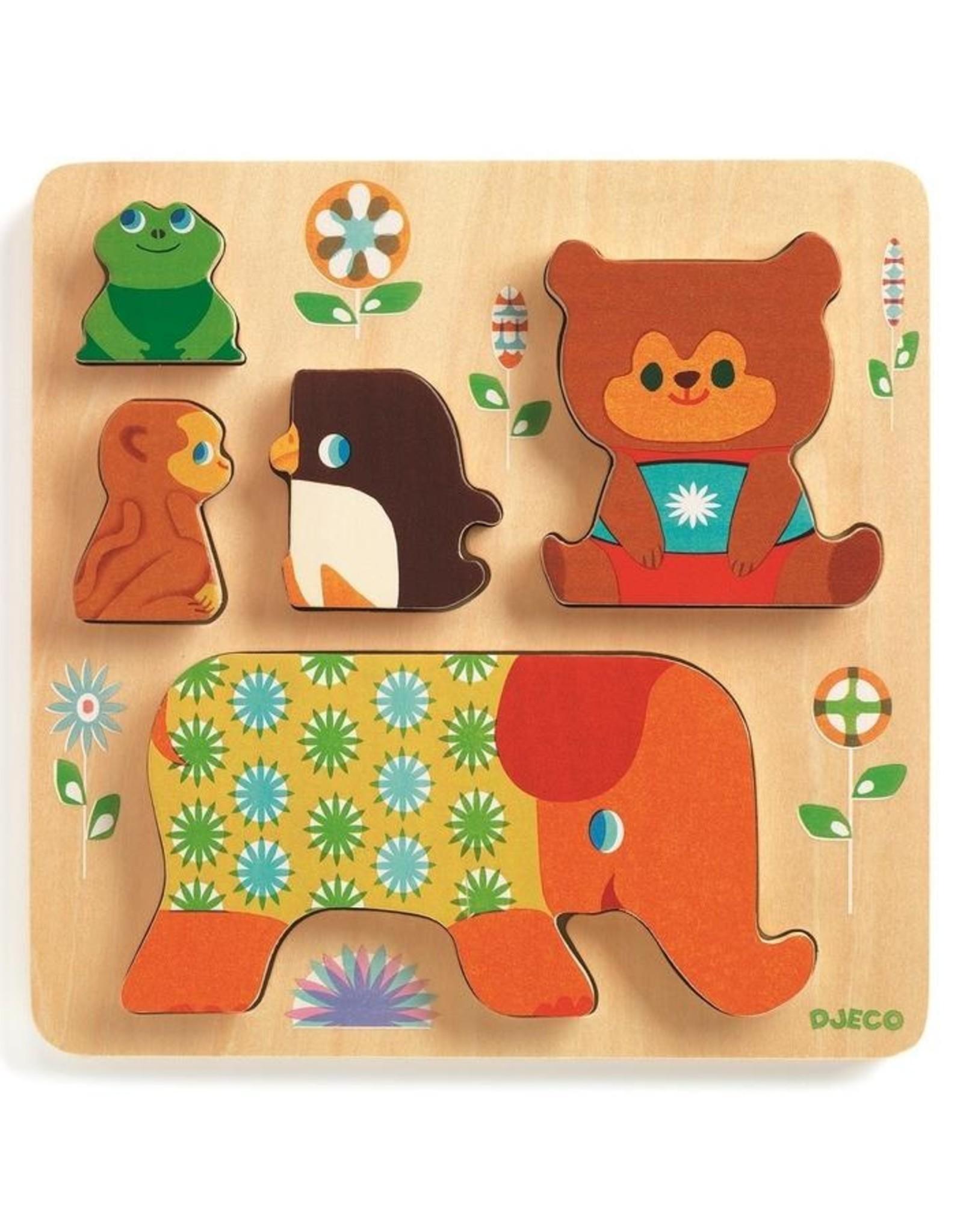 Djeco Houten puzzel Woodypile DJ01056