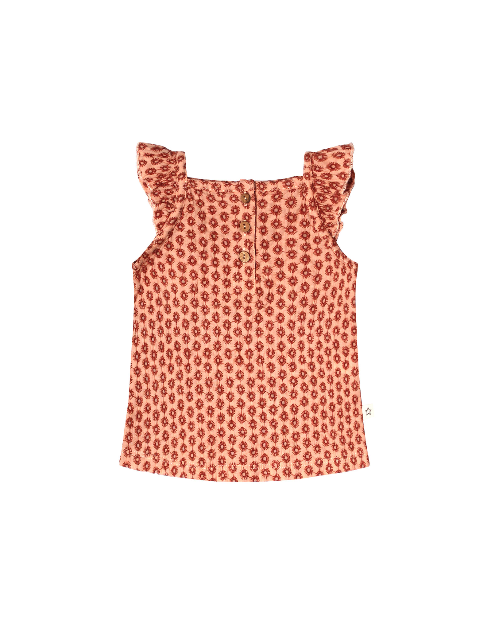 Your Wishes Broderie Terra | Ruffle Singlet Peach