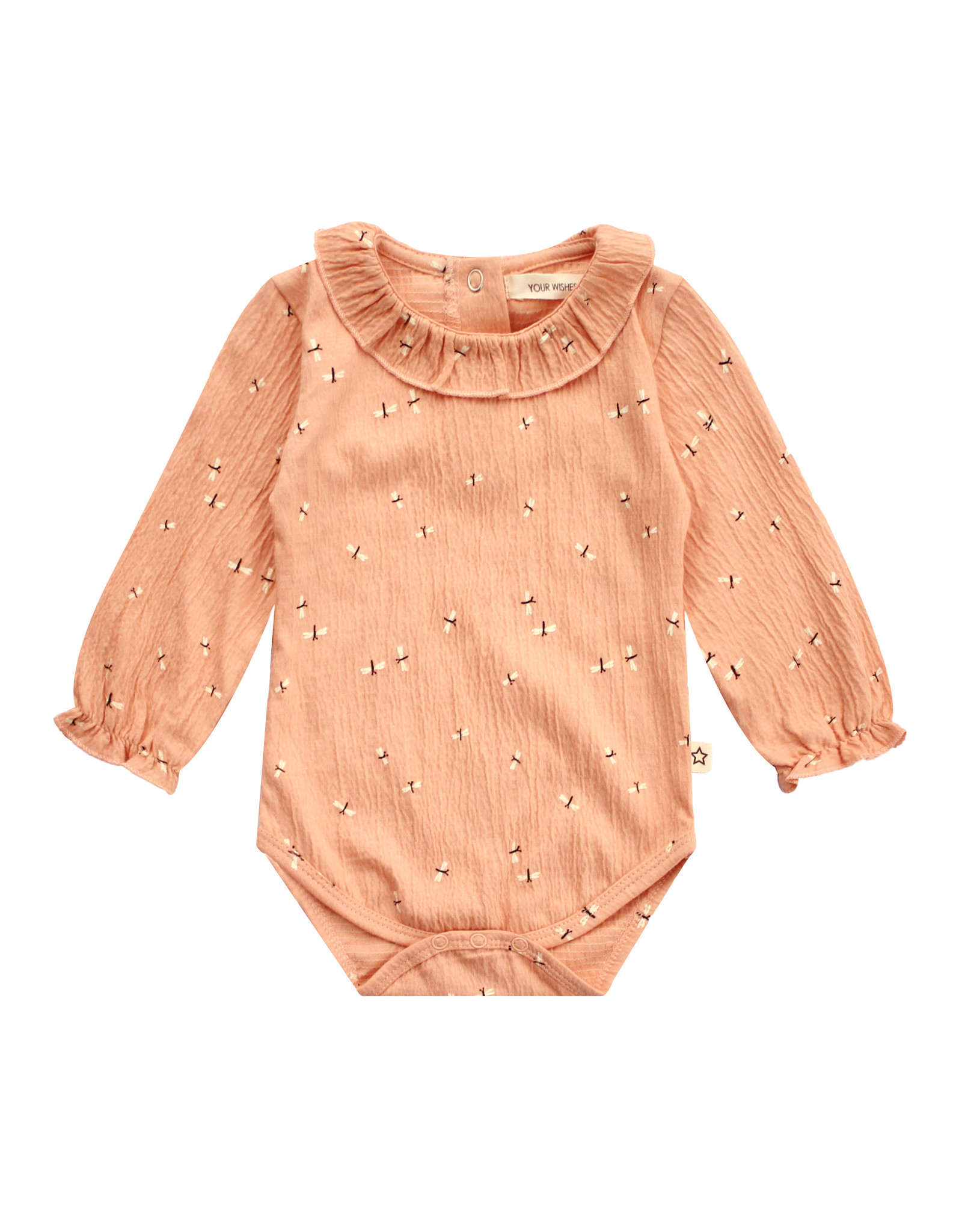 Your Wishes Dragonfly | Balloon Romper Peach