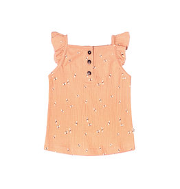 Your Wishes Dragonfly | Ruffle Singlet Peach
