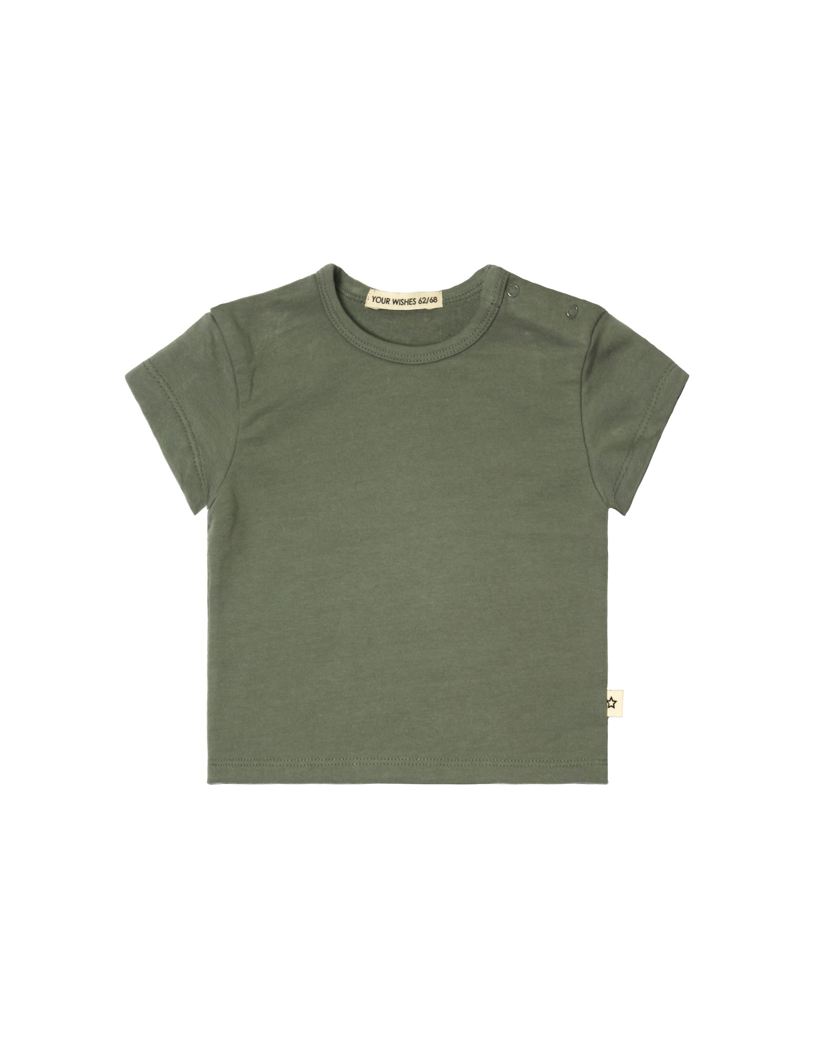 Your Wishes Solid  Loose Tee Old Green