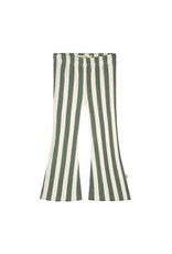 Your Wishes Bold Stripes | Flared Legging Old Green