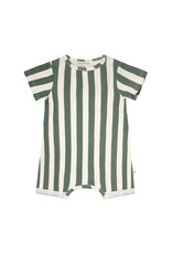 Your Wishes Bold Stripes   SS Onesie Old Green
