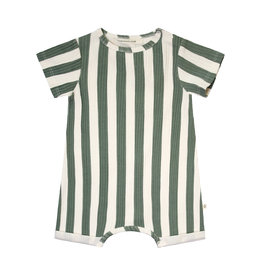 Your Wishes Bold Stripes | SS Onesie Old Green