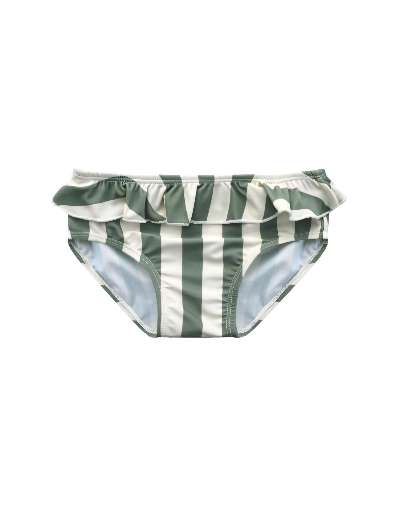 Your Wishes Bold Stripes   Bikini Bottom Old Green