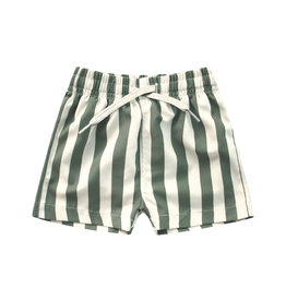 Your Wishes Bold Stripes   Swim Shorts Old Green