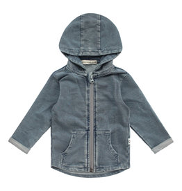 Your Wishes Knitted Denim | Zipper Pocket Cardigan Denim Blue