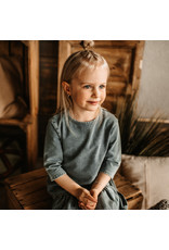 Your Wishes Knitted Denim | LS Shift Dress Denim Blue