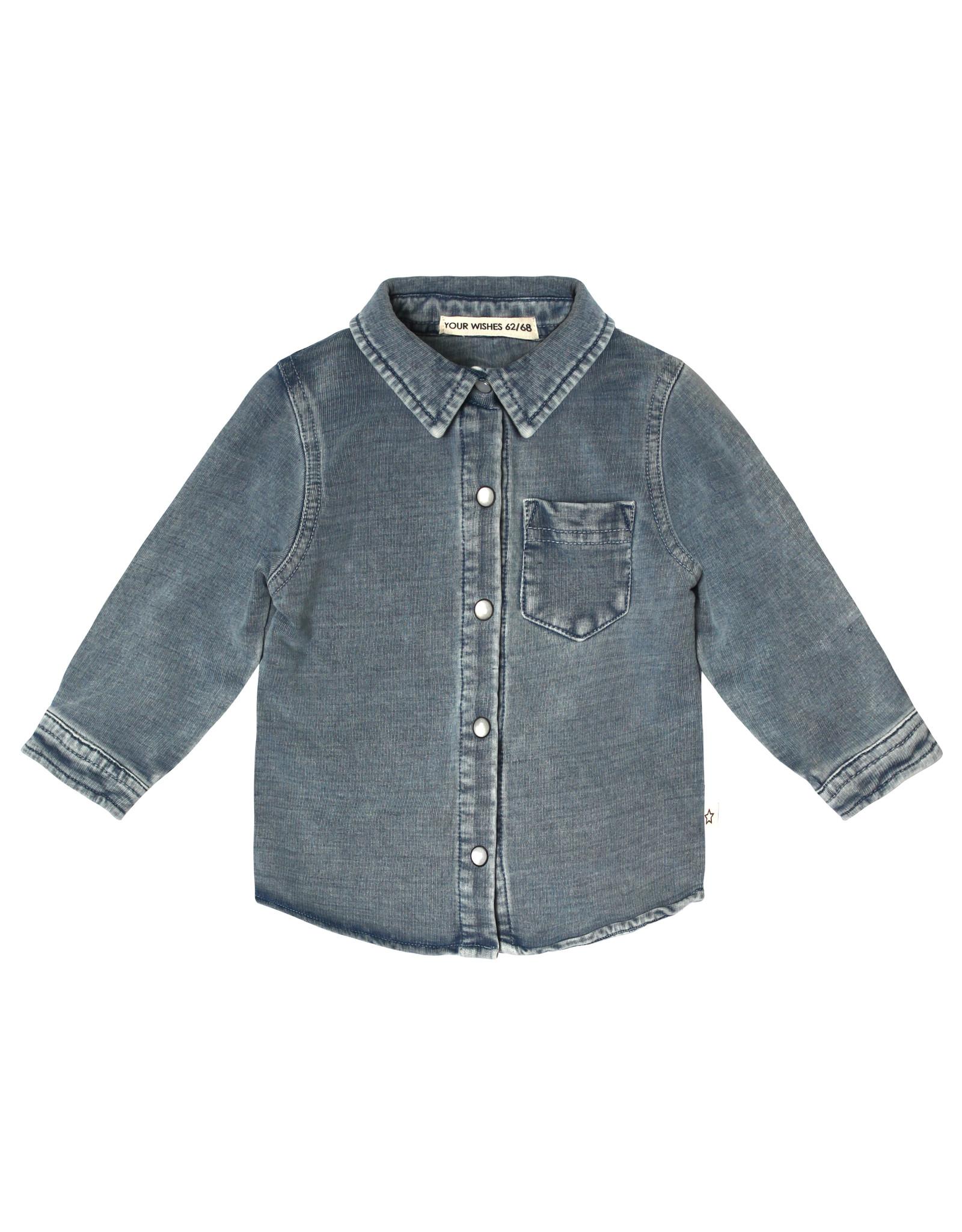 Your Wishes Knitted Denim | Shirt Denim Blue