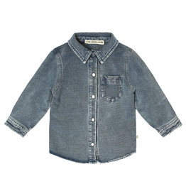 Your Wishes Knitted Denim | Shirt Denim Blue