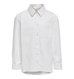 Kids Only Konanne Ls Pop Dnm Shirt White