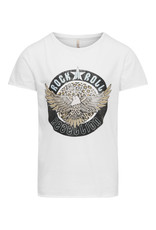 Kids Only Konlucy Life Fit S/S Leo Rock Top Cs Jrs Bright White