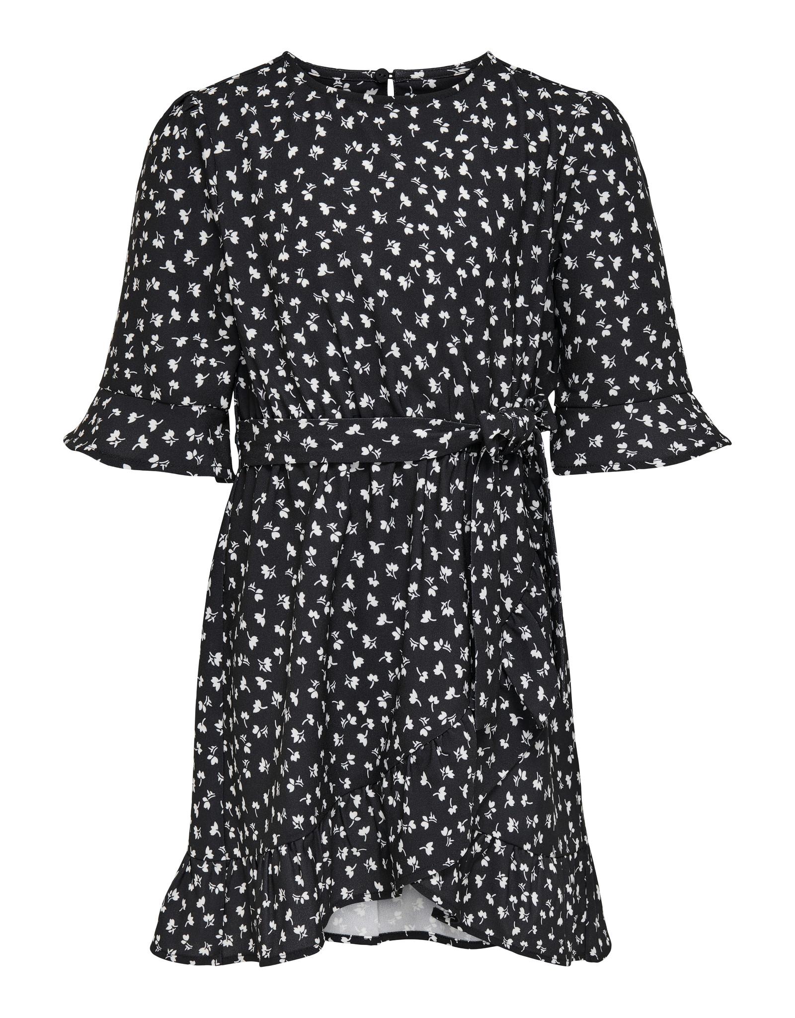 Kids Only Konsisse S/S Fake Wrap Sh Dress Wvn Black