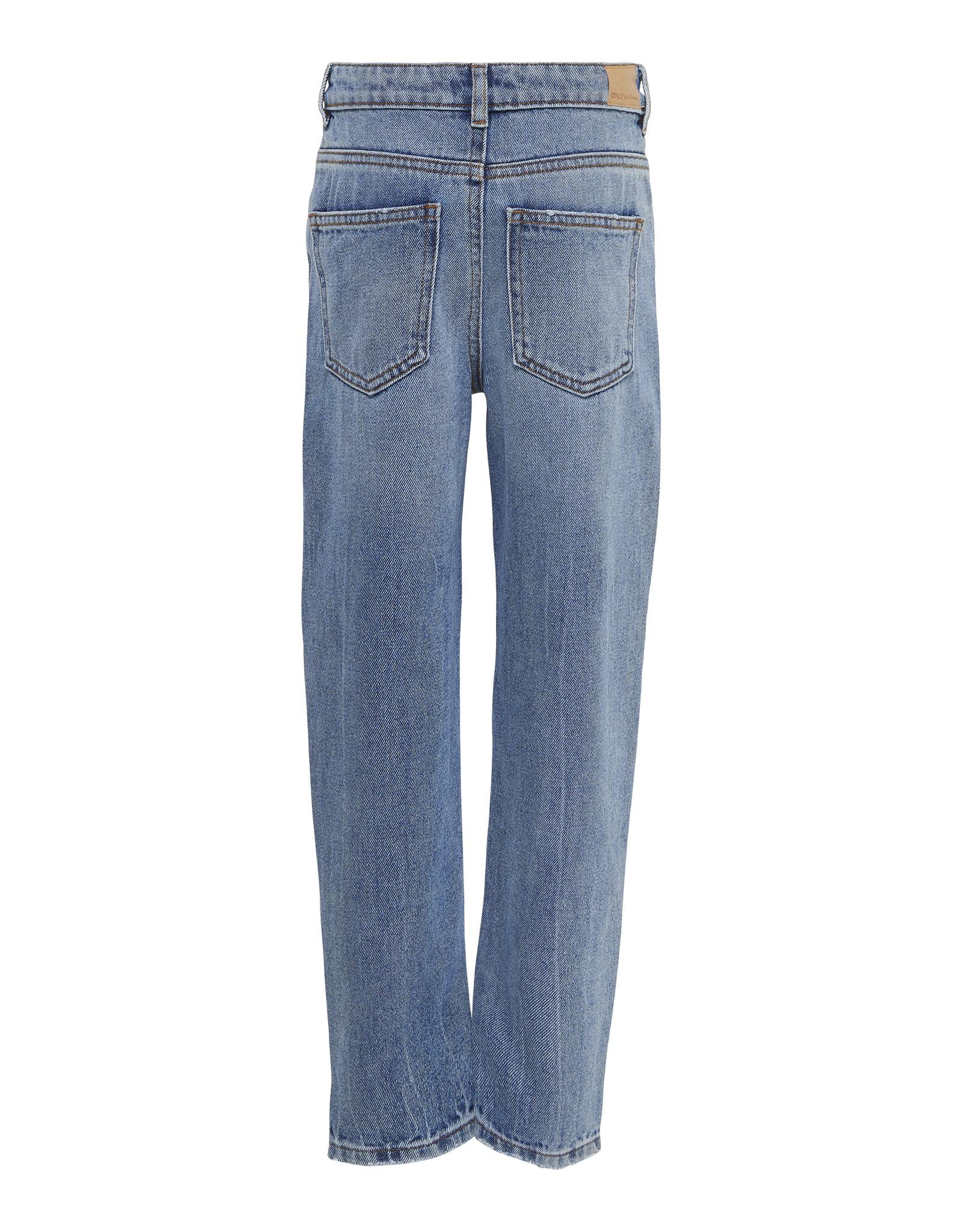 Kids Only Koncalla Mom Fit Destroy Dnm Jeans Azg Light Blue Denim