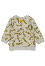 Feetje Sweater - Go Wild Grijs melange