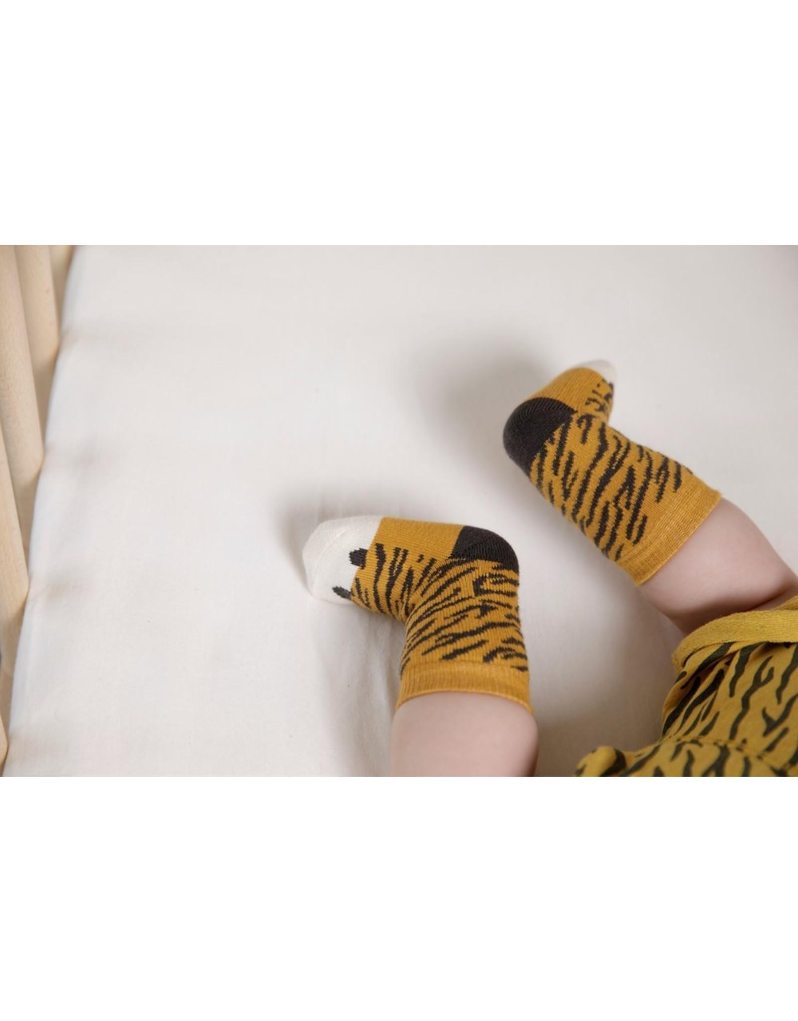 Feetje Short AOP - Go Wild Okergeel melange