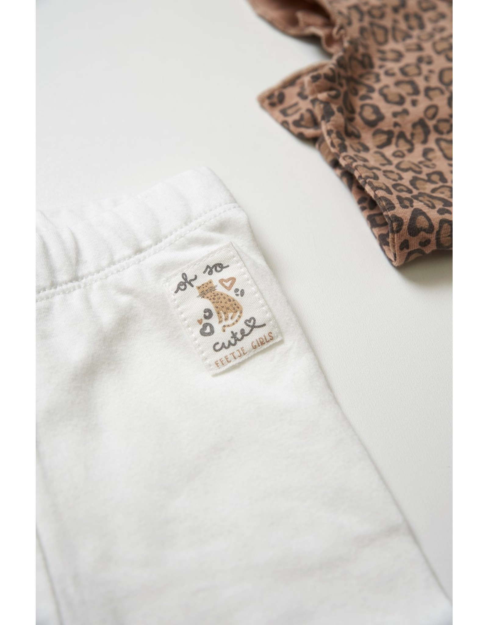Feetje Legging - Panther Cutie Offwhite