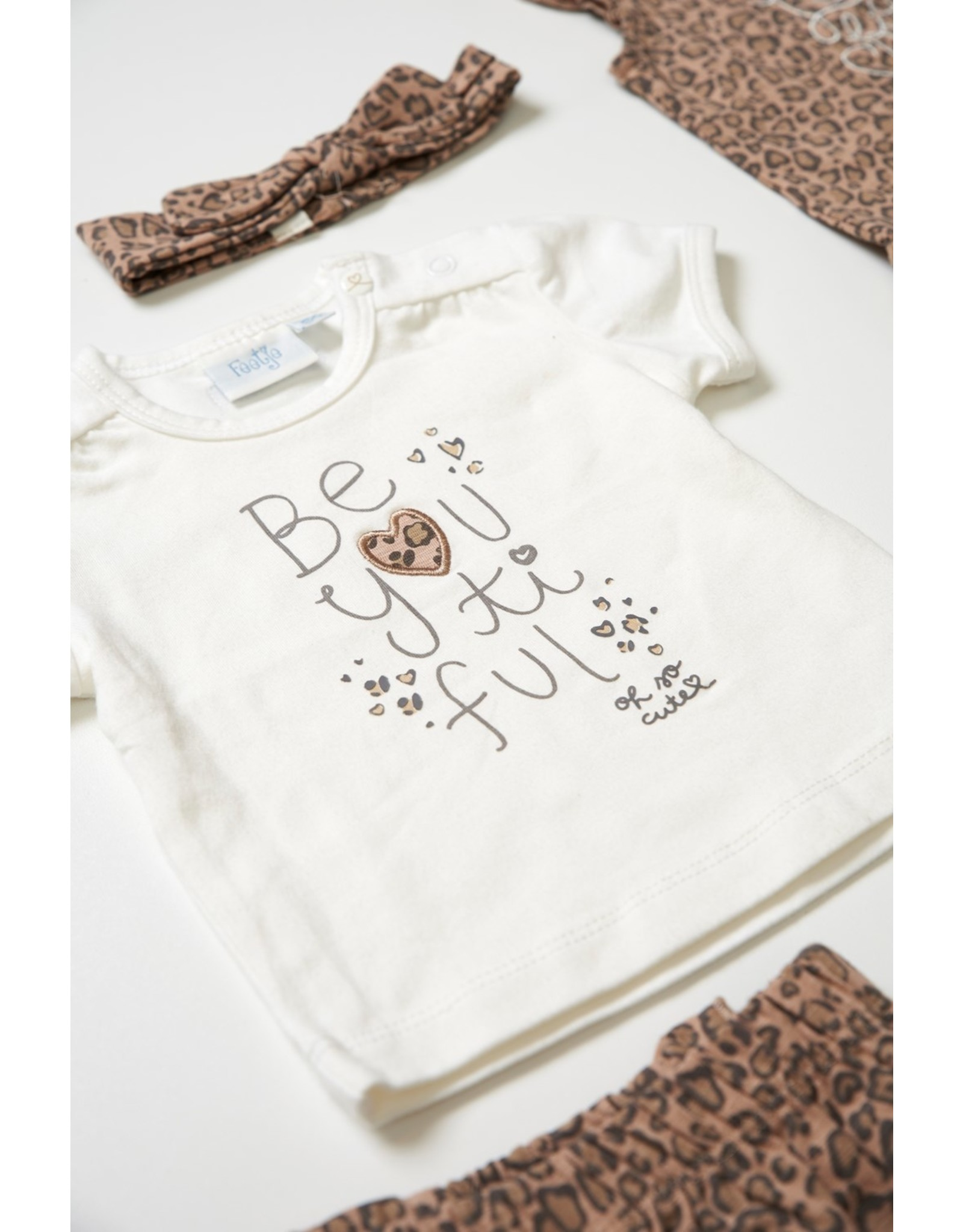 Feetje T-shirt - Panther Cutie Offwhite