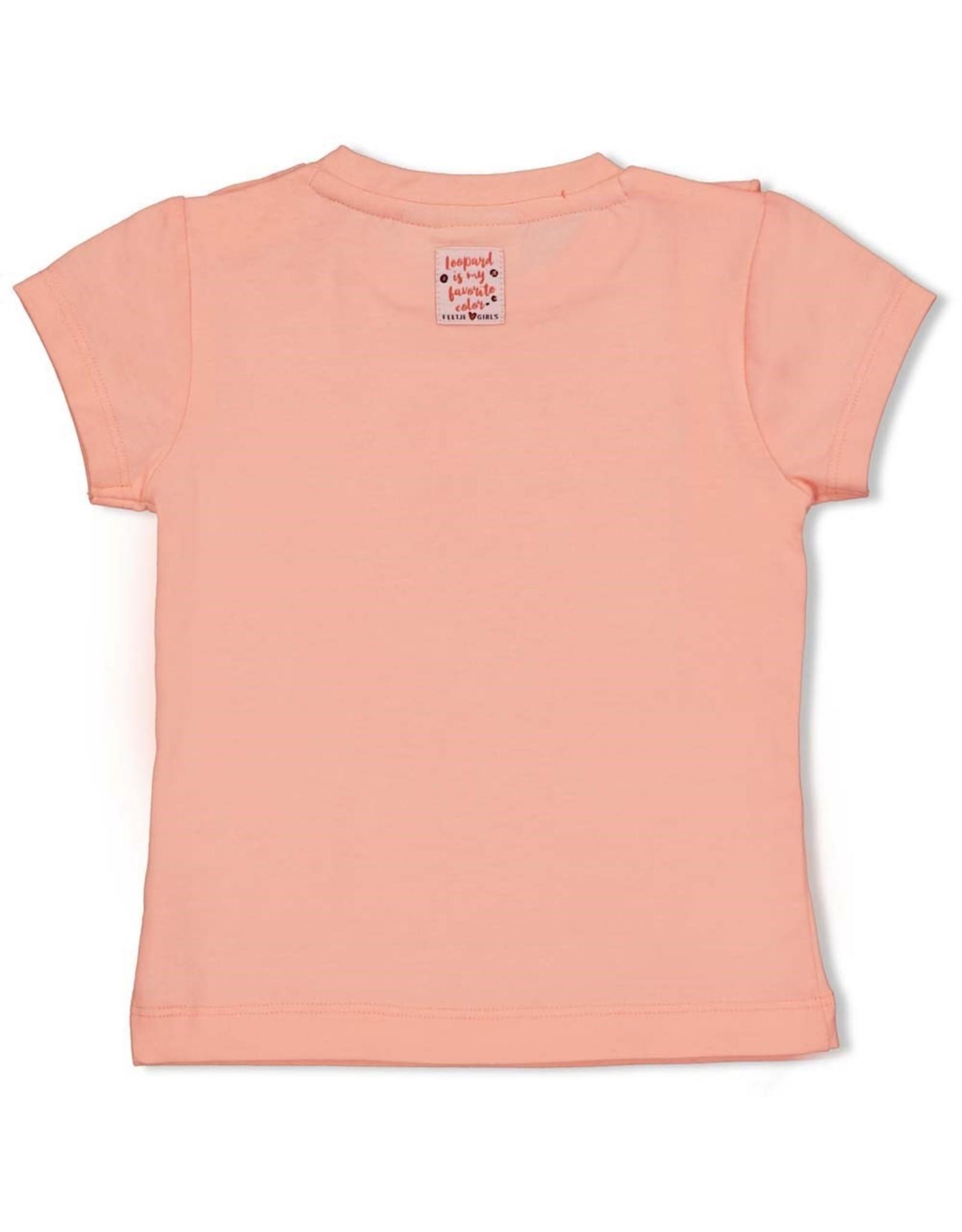 Feetje T-shirt - Leopard Love Roze