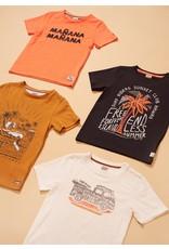 Sturdy T-shirt - Happy Camper Okergeel
