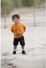 Feetje T-shirt Sunset Club - Happy Camper Okergeel