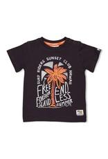 Feetje T-shirt Free - Happy Camper Antraciet