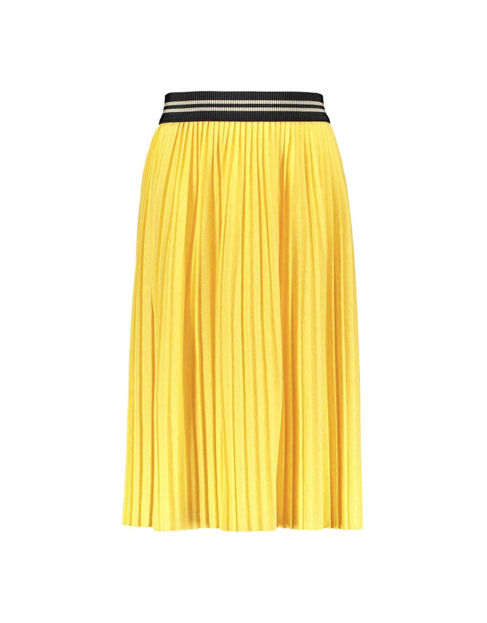 Like Flo girls jersey plisse skirt maxi Lemon